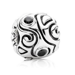 Pandora Day Dream Charm, Sterling Silver, Black CZ